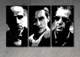 The Godfather I-III Al Pacino, Marlon Brando  3 dílny POP ART obraz