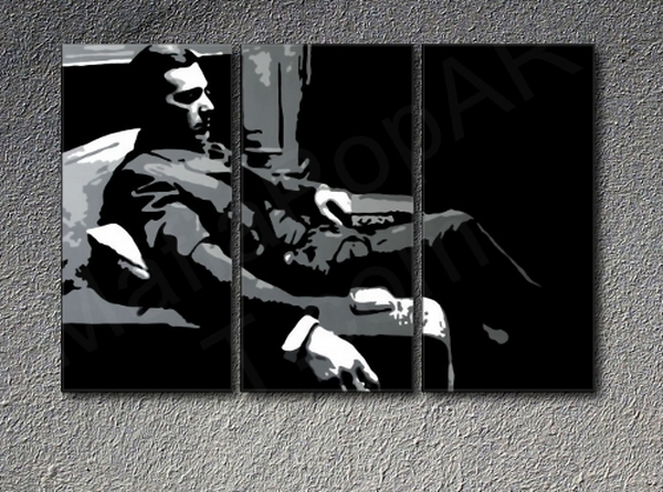 The Godfather M. Corleone Al Pacino 3 dílny POP ART obraz