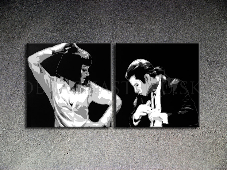 Pulp fiction 2 dílny POP ART obraz