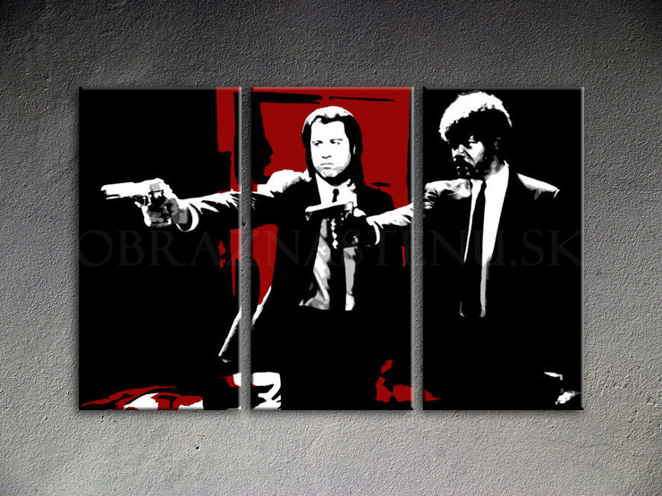 Pulp fiction 3 dílny POP ART obraz