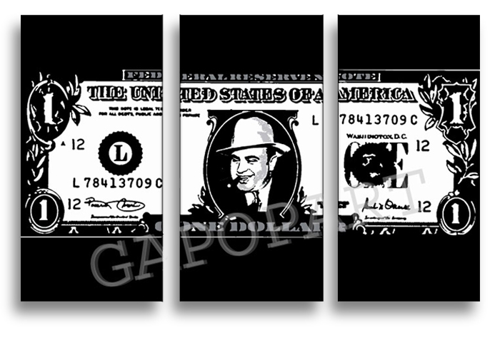 Al Capone DOLLAR 3 dílny POP ART obraz