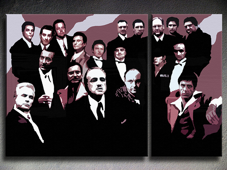 The MAFIA Family 3 dílny POP ART obraz