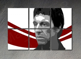 Scarface - AL PACINO 6 dílny POP ART obraz