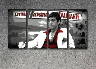 Scarface - Havana 4 dílny POP ART obraz