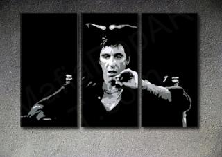Scarface - AL PACINO 3 dílny POP ART obraz