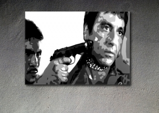 "Scarface - AL PACINO ""in chains"" POP ART obraz"