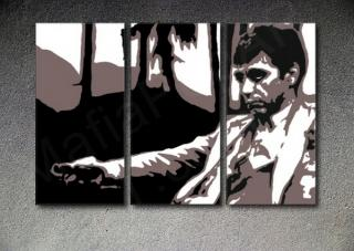 "Scarface - AL PACINO ""Palm Beach"" 3 dílny POP ART obraz"
