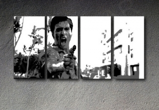 "Scarface -""The Killer"" 4 dílny POP ART obraz"