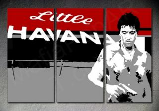 "Scarface - AL PACINO ""Red Blood"" 3 dílny POP ART obraz"