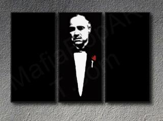 The Godfather Vito Corleone Marlon Brando 3 dílny POP ART obraz