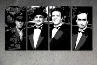 Godfather Corleone Family  4 dílny POP ART obraz