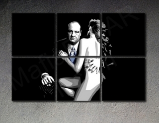 The Sopranos - 6 dílny POP ART obraz